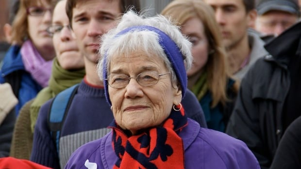 Betty Peterson was a fixture at peace rallies in Nova Scotia.