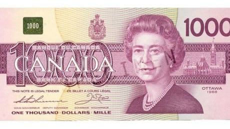 $1000 note