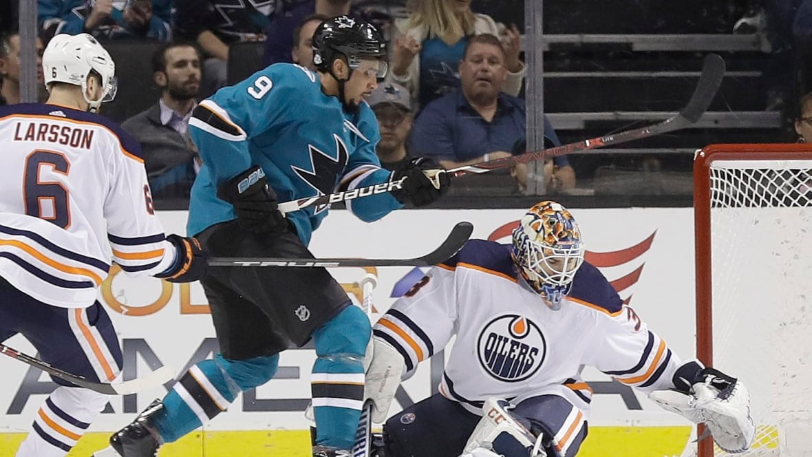 Oilers Unravel In 2nd Period, Fall To Sharks