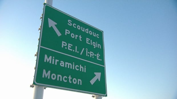 Drivers say confusing signs keeping them from leaving New Brunswick | CBC News