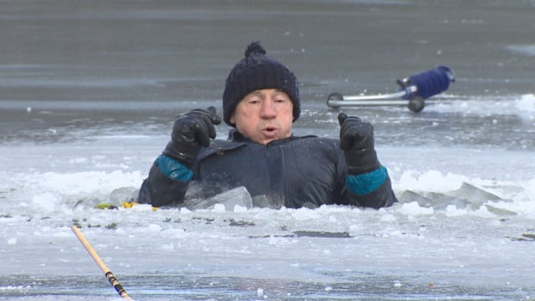 staying alive how to survive a fall through the ice cbc news