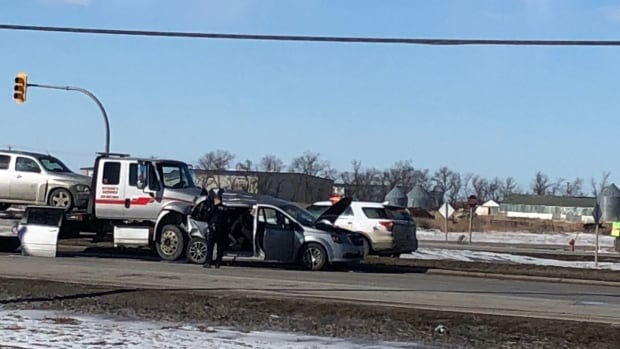 Tow Truck Saskatoon >> Charges expected after tow truck rear-ends SUV stopped at Hwy 1 light | CBC News