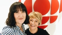 Ellen Doty with CBC Music host Katherine Duncan