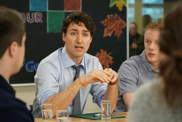 Justin Trudeau Barrie steel