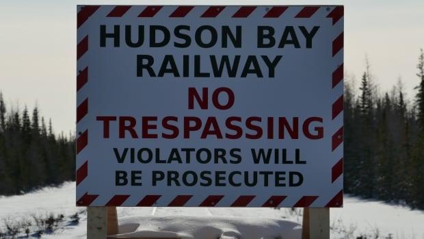Hudson Bay Rail No Trespassing