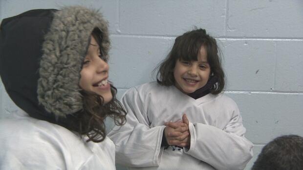 Syrian kids playing hockey