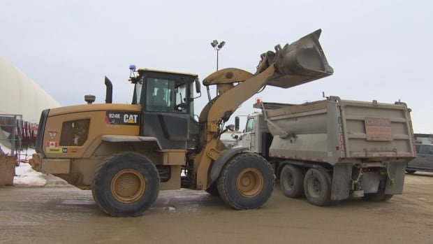 City of Winnipeg loader sanding truck