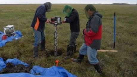 Ice core drilling Alaska mercury study