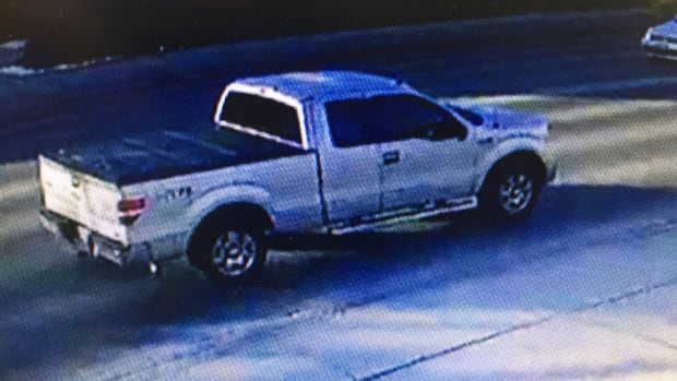 Police are looking for this white Ford F150 crew cab with a black tonneau cover as they investigate a hit-and-run that happened Monday morning at Oxford and Quebec streets.