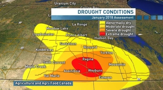 Drought conditions in Sask. Jan 2018