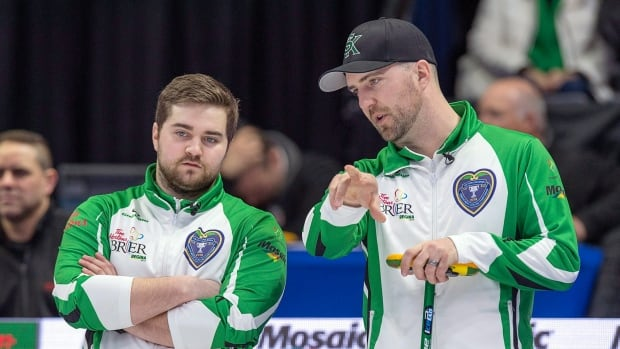 Jacobs, Gushue, Epping out front at Brier