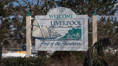 Liverpool Nova Scotia town sign