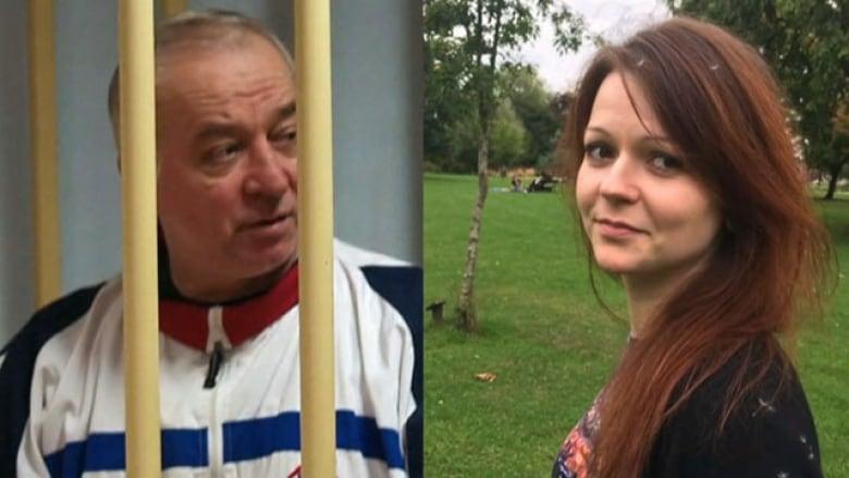Sergei Skripal and his daughter Yulia were found slumped on a park bench in Salisbury, England, on March 4.(Misha Japaridze/AP; Yulia Skripal/Facebook via AP )