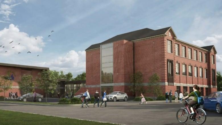A Concept Drawing For Maison De La Francophonie De Lu0027Ottawa, Formerly The  Site Of Grant School On Richmond Road. (City Of Ottawa)