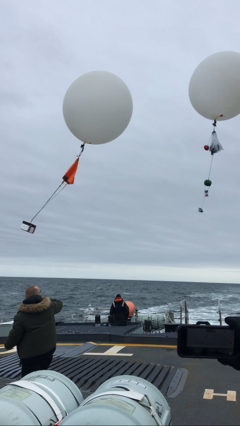 UPEI students all at sea to launch weather balloons | CBC News