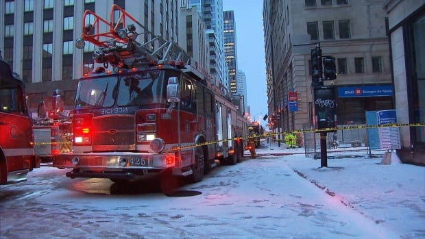 Authorities got reports of a gas leak Thursday at around 3:30 p.m. in downtown Montreal. Buildings were evacuated and power was cut for several hours.