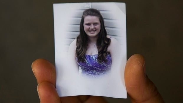 A family photo of Jennifer Horne is shown outside Nova Scotia Supreme Court in Halifax on June 11, 2010.