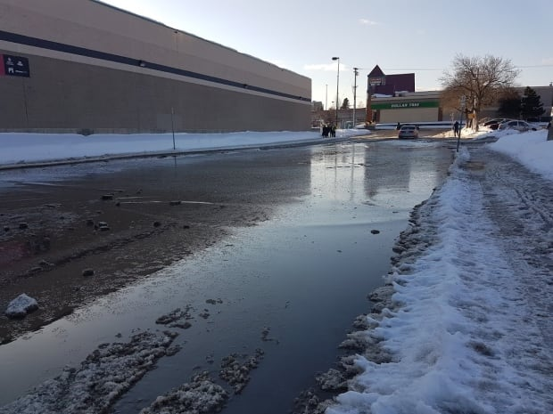 Prince George puddle localized flooding
