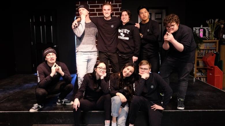 The improv team at Vincent Massey Collegiate, the Con ...