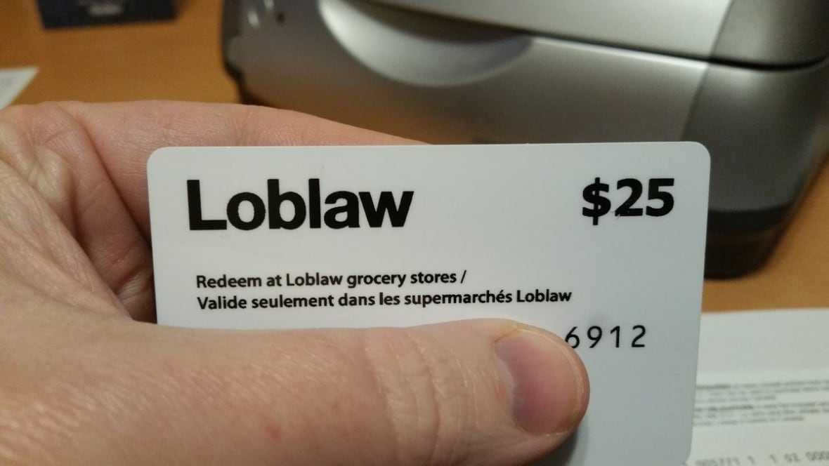 Privacy commissioner asks Loblaws why it's demanding customers send ID for $25 gift card