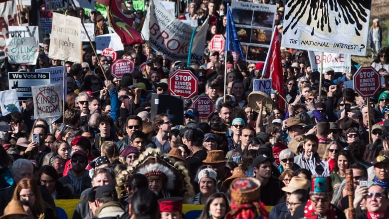 A failure of project change management. Indigenous leaders and environmentalists beat drums and sang as they protested Kinder Morgan's $7.4-billion Trans Mountain pipeline in Burnaby, B.C., on Saturday morning. (Darryl Dyck/The Canadian Press)