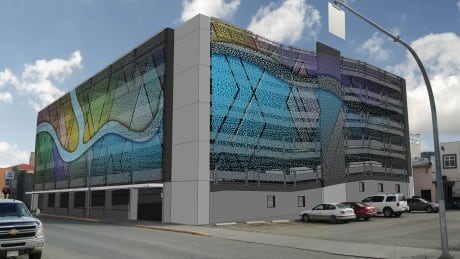 Kamloops parkade to be transformed into a giant piece of art