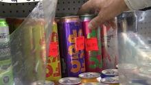 Fckd up cans on shelf