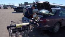 Danny Turner loading groceries