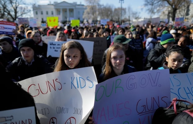 Student walk out gun violence protest