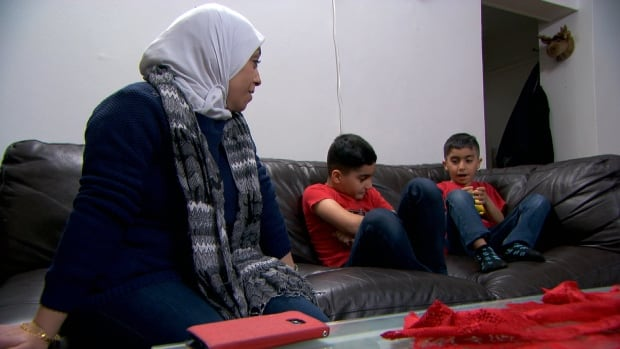 Amani Sulaiman and her sons