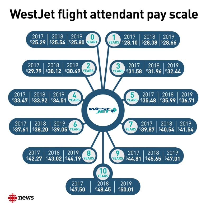 WestJet flight attendants claim they're paid less than