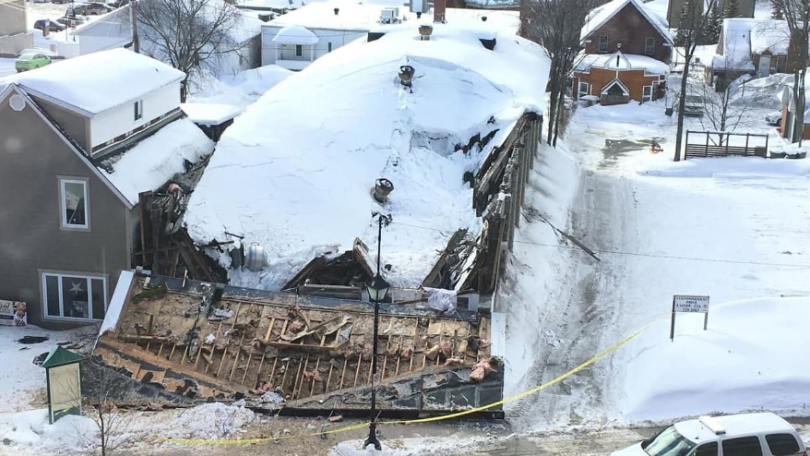 Building Collapses In Downtown Edmundston Under Weight Of