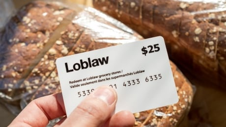 Loblaw gift certificate CBC stock