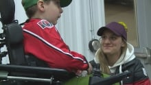 Olympian Jill Saulnier meets sledge hockey player