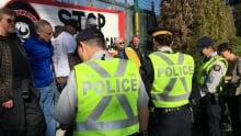 Burnaby RCMP arrest Kinder Morgan Trans Mountain protesters 17 March 2018