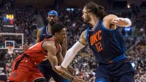 Raptors' 11-game winning streak halted by Thunder