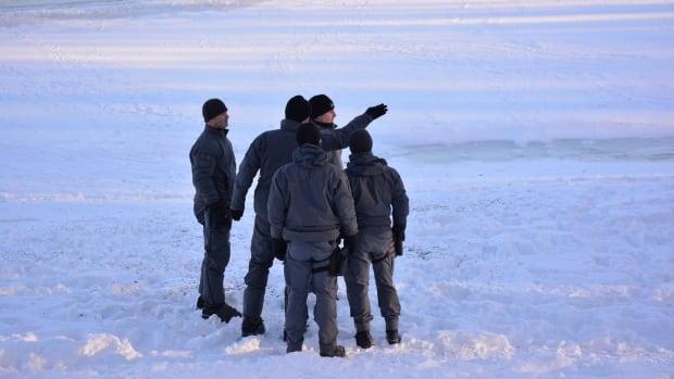 police divers ariel