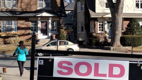 Real estate sold sign, Toronto, Bloor West