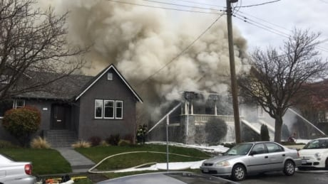 Firefighters battle blaze in Victoria character home