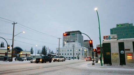 downtown Yellowknife winter