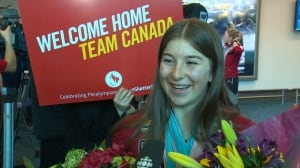 Multiple medalist Mollie Jepsen among B.C. paralympians returning home
