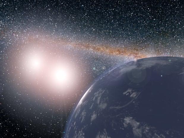 Binary star planet
