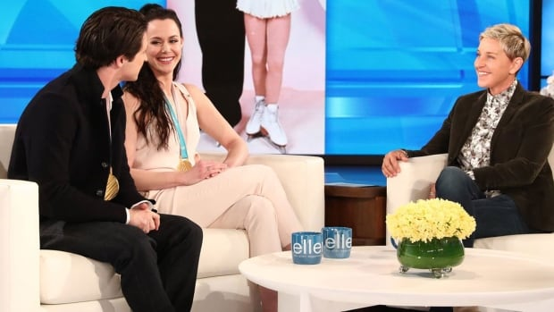 Virtue, Moir tell Ellen DeGeneres they're 'definitely' not a couple | CBC Sports