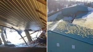 Roof collapses Alberta