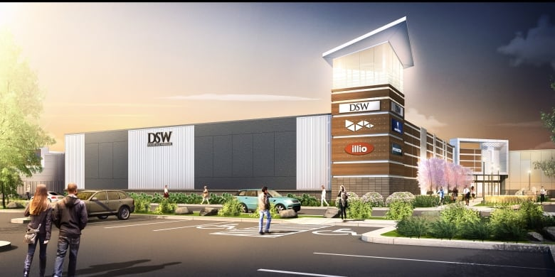 A rendering of the Premium Outlet Collection Edmonton International Airport  shows some of the tenants expected when the mall opens in May.