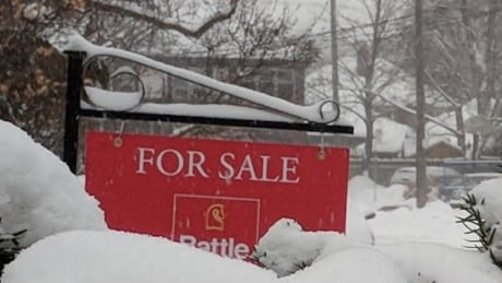 Real estate sign, Winter, Toronto