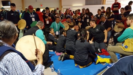 Watch Live: Dene hand games competition from the 2018 Arctic Winter Games
