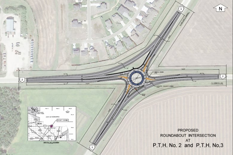 Province to build first-ever highway roundabout in Manitoba