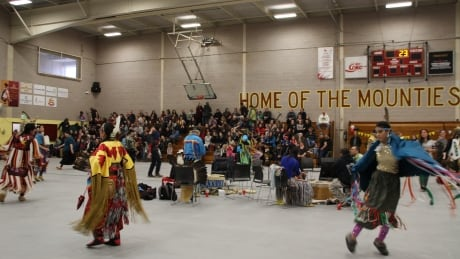 Mi'maq flag raised at Mount A as powwow participants defy snowstorm thumbnail