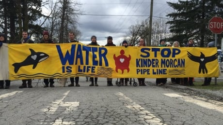 kinder morgan protesters burnaby march 23